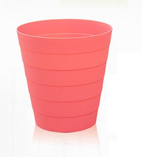 Bidoni Cucina Bagno Ufficio Cestini Bidoni di Plastica Durevole di Vita , Pink