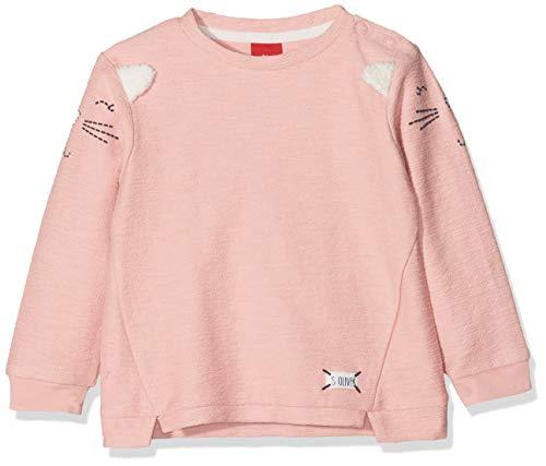 s.Oliver Baby-Mädchen Sweatshirt 65.808.41.7851, (Dusty Pink 4257), 92