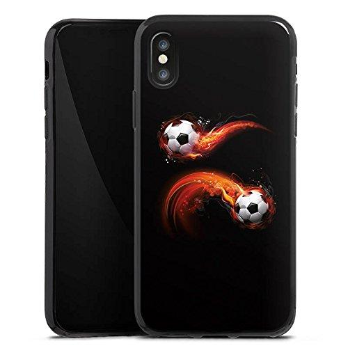 Apple iPhone 6 Plus Silikon Hülle Case Schutzhülle Fußball Sport Ball Silikon Case schwarz