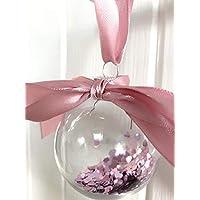 None-brands Bolas personalizadas rellenas de corazón   Bolas de Navidad rellenas de Navidad, bolas decorativas, bolas conmemorativas, bolas conmemorativas