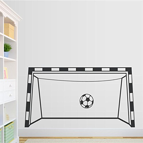 ZRDMN Wandtattoo Fußball Tor Wand-Spiel Zimmer Dekor Aufkleber für Jungen. Kann Kunst Wandbilder für Schlafzimmer Wohnzimmer Büro Familie Kindergarten Badezimmer Küche entfernen (Wand, Fußball-tor)