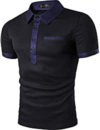 31a6fe884f54 Sportides Herren Polo Shirts Poloshirts Kurzarm Contrast Collar Golf Tennis  Kurzarm T-Shirt Tops JZA032