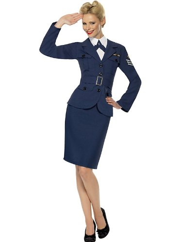 WW2 Air Force Female Captain Fancy Dress Woman Costume (Ww2 Fancy Dress Kostüm)