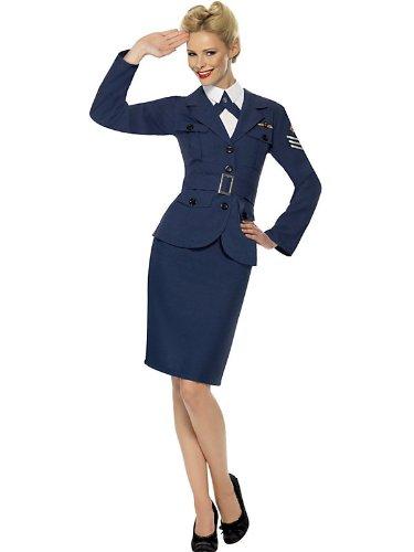 WW2 Air Force Female Captain Fancy Dress Woman Costume