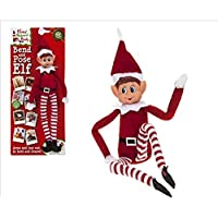 Hoolaroo VIP Elf Bendable Poseable Wired BOY Elf - VIP Elf for Christmas Accessory