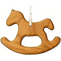 Christbaumschmuck aus Holz | Schaukelpferd | Geschenkanhänger Weihnachtsdeko | Tannenbaumschmuck