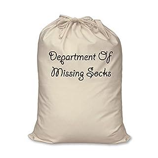 Department of Missing Socks Bag 100% Natural Cotton Home Storage Organisation Washing Basket