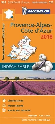 Carte Provence-Alpes-Côte d'Azur Michelin 2018 par Michelin