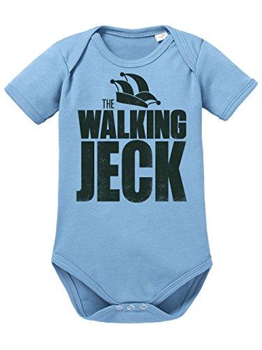 clothinx Baby Body Unisex Karneval The Walking Jeck Himmelblau/Schwarz Größe 62-68 (Walking Dead Baby Kostüm)