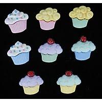 Cupcakes-Mini Sweet Treats & Embellishments Craft Novelty-Bottoni Dress It Up di