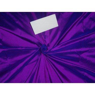100% Pure Seide Dupionseide Stoff violett X blau Farbe 137,2cm by the Yard -