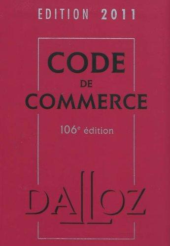 Code de commerce 2011