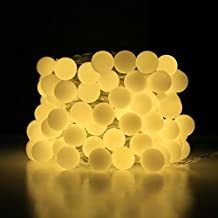 LE Guirnalda LED 10m 100 Bombillas 8 Modos, Exteriores e Interiores, Programador y enchufe incluidos, Blanco cálido