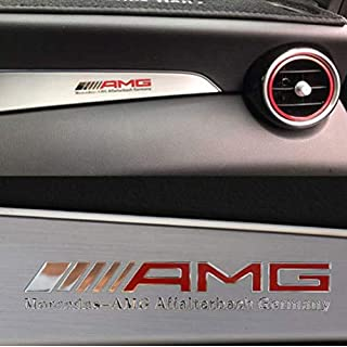 HERCHR Car Interior Sticker, Emblem Badge Decal Accessories AUTO Metal Sticker for AMG