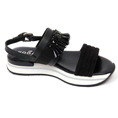 C8832 sandalo donna HOGAN H257 scarpa pietre nero sandal shoe woman Nero