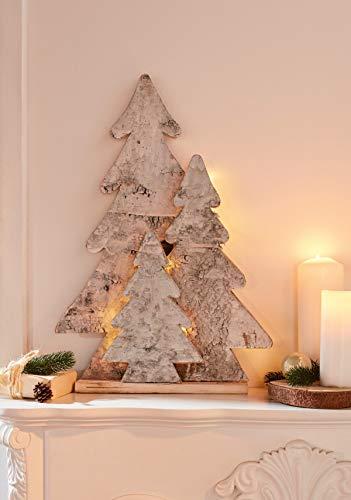 """LED Leuchtdeko""""Tannenwald"""" aus Holz, 67 cm hoch, beleuchtet, Adventsdeko, Weihnachtsfigur"""