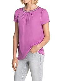 ESPRIT Collection Damen Regular Fit Bluse mit dezentem Faltenwurf