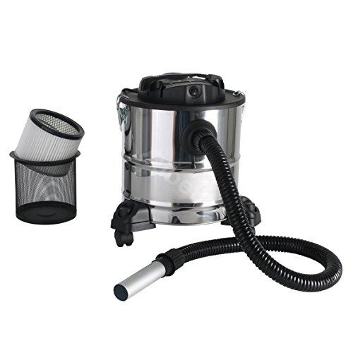 Aschesauger Edelstahl Kaminsauger 18 Liter mit 1000 Watt Motor und Filter für Grill und Kamin Reinigung - ein Trockensauger für Asche - Gs geprüft
