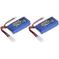 2pcs GoolRC 7.4V 1500mAh 30C Mini TAMIYA Plug LiPo batería para Feilun FT009 GC001 RC Boat
