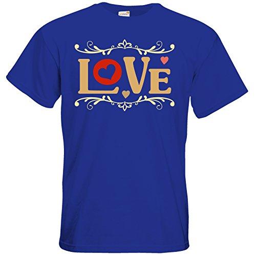 getshirts - RAHMENLOS® Geschenke - T-Shirt - Valentinstag Valentine Love Royal Blue