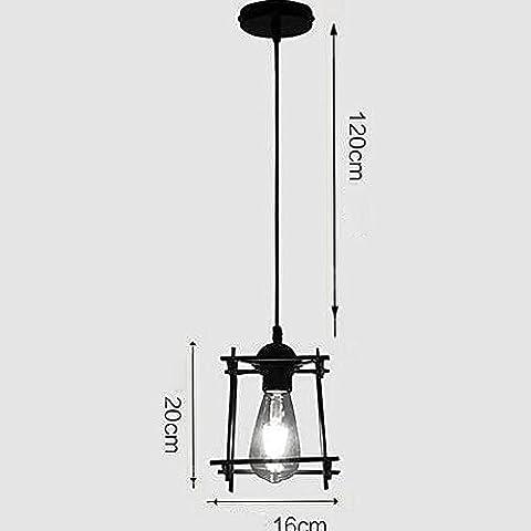 BJVB Retro Metal hierro lámpara colgante luces colgante luminarias colgantes lámpara Cable candelabros alambre