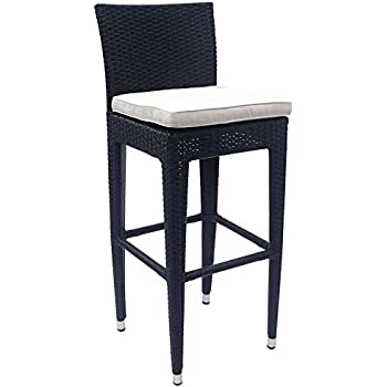 tabouret de bar ext rieur en polyr sine et aluminium cuisine maison. Black Bedroom Furniture Sets. Home Design Ideas