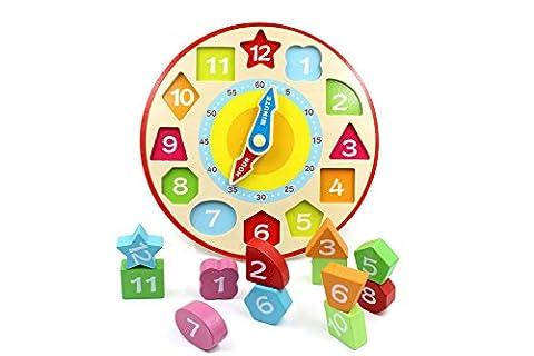 YouΞ Wooden Shape Sorting Teaching Clock