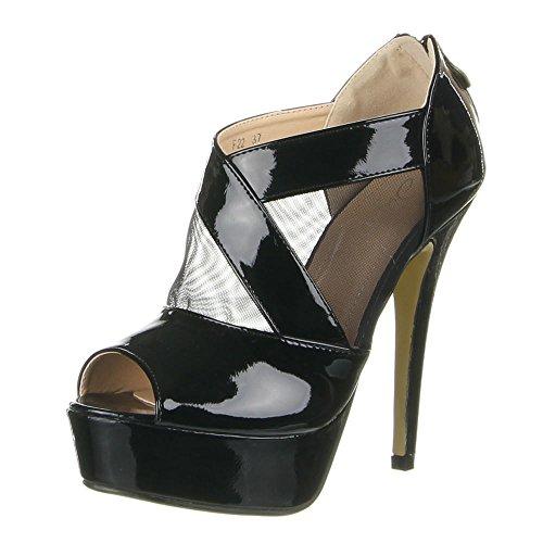 Damen Schuhe PUMPS PEEP TOE PLATEAU HIGH HEELS Beige Schwarz Weiß 35 36 37  38 39 42c53bf188
