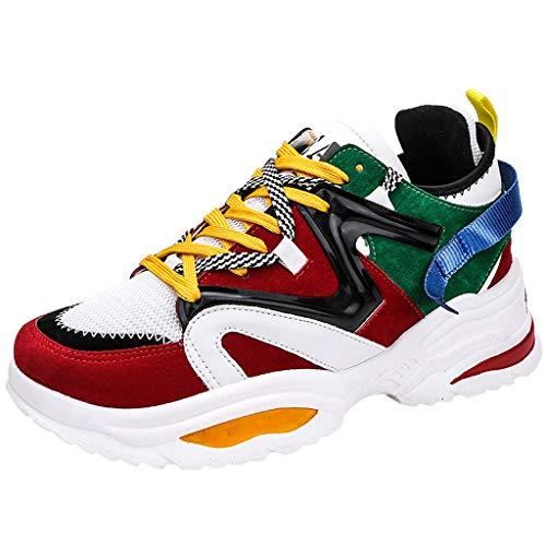 CUTUDE Herren Schuhe Atmungsaktive Sportschuhe Mode Schnürung Student Laufschuhe - Viele Farben 39EU-44EU (Tarnen, 39 EU)