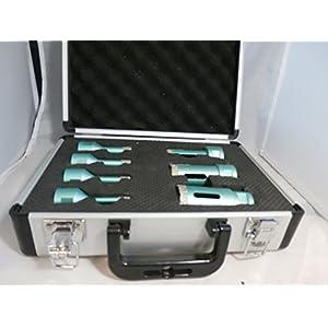 Koffer mit 7 Stück SANKYO-Vakkum Brazet -Bohrer (D6-8 / 10-12 und 20-27-35 mm)