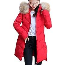 Theshy Damen Winterjacke Wintermantel Lange Daunenjacke Jacke Outwear  Frauen Winter Warm Daunenmantel Dickeren DüNnen Mantel Um 8fb9942dde