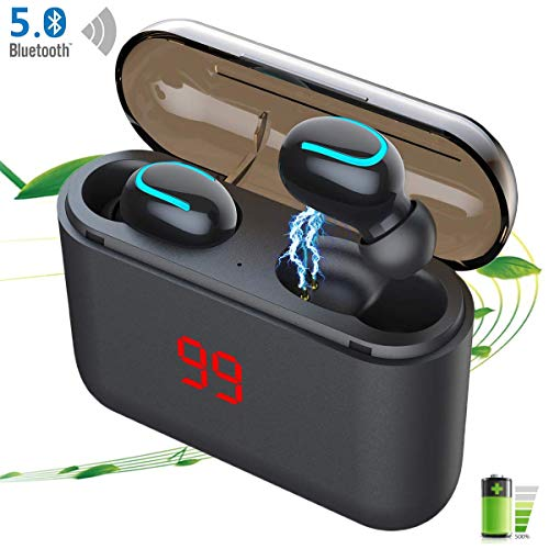 LTPAG Wireless Cuffie Bluetooth 5.0, TWS Auricolari Bluetooth Hi-Fi Stereo Auricolare Wireless Sport con Mini In Ear IPX7 Impermeabile Riduzione...