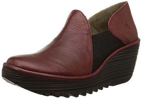 FLY London Yua Damen Ballerinas Rot - Rouge (Mousse Cordoba Red)