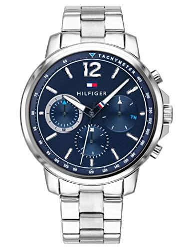 Multi Uhr (Tommy Hilfiger Herren Multi Zifferblatt Quarz Uhr mit Edelstahl Armband 1791534)