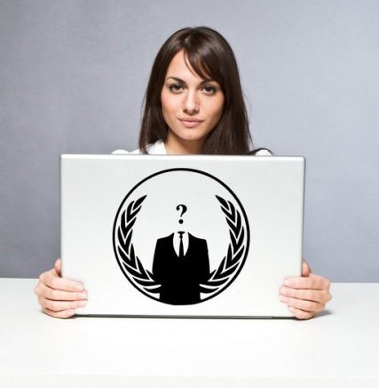 Anonymous Crest ANON Globe Suit - Vinyl Car / Laptop / Wall Sticker (Small: 15cm x 15cm) by Broomsticker
