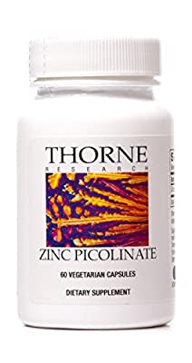Thorne Research - Zinc Picolinate - Highly Absorbable Zinc Supplement - 60 Capsules from Thorne Research