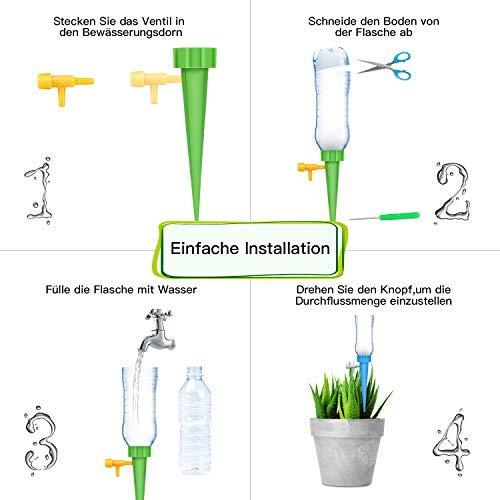 4 Stück Automatisches Bewässerungsset Wasserspender Garten Pflanzen Bewässerung