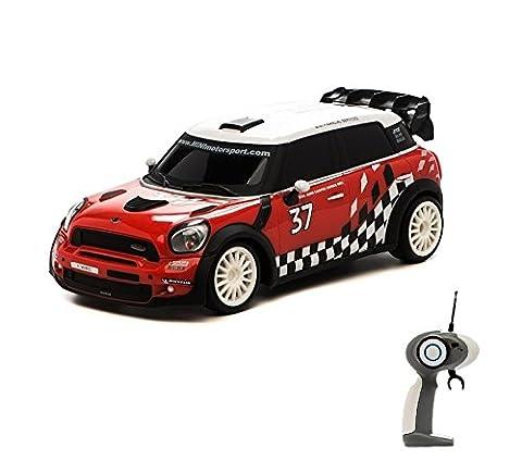 Mini Countryman WRC - RC ferngesteuertes Lizenz-Fahrzeug im Original-Design mit Beleuchtung und Turbo-Funktion, Modell-Maßstab 1:16, Ready-to-Drive inkl. Fernsteuerung