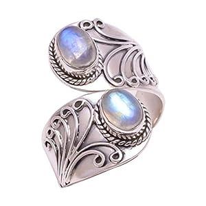 YSoutstripdu Damen Ring, Vintage-Stil, Türkis, offener Fingerring, Bankett-Schmuck