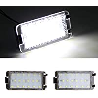 GOFORJUMP Luz de matrícula LED Super Brillante 2X18SMD Canbus para 99-05 S/Eat