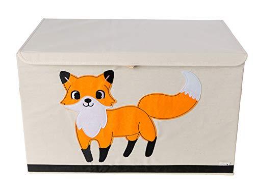 Coffre de Rangement / Boîte / Organiseur – Design de Renard – 61cm x 38cm x 37cm – Grande Capacité de Rangement – Le Coffre de Rangement d'animal parfait pour enfant