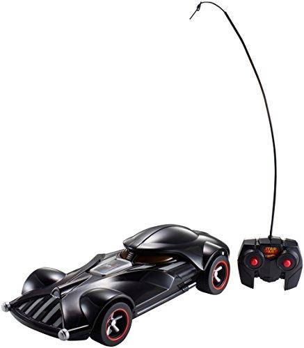 ferngesteuerte hot wheels Hot Wheels FBW75 Star Wars Darth Vader RC Fahrzeug mit Lights und Sounds, Ferngesteuertes Auto mit Controller, Spielzeug ab 3 Jahren