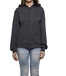 Clifton Womens Sweat Shirt With Hood-Charcoal Melange-4XL