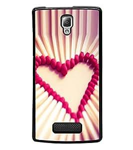 printtech Matchstick Love Heart Back Case Cover for Lenovo A2010