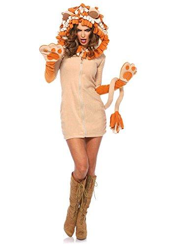 Leg Avenue 85501 - Cozy Lion Kostüm, Größe Large (EUR 40) (Erwachsene Sexy Löwen Kostüme)