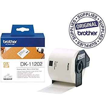 2 ROLLEN ETIKETTEN 62x100mm STANDARD für BROTHER P-touch DK-11202