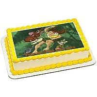 Tarzan - Decoración para tarta con glaseado comestible y diseño rectangular