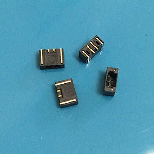 Gimax 20 Stück SUR0.8 Pannenverbinder 0,8 Pitch 2 Pin liegend Vertikale Aufkleber Nadeln Sitz Piercing, GMX-68AA37CA6EE0E96BAA2F79559939218C, 2pin Lying black