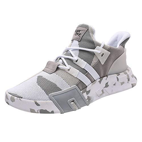 newest 8665d 58907 Kobay Uomini Bambini Casual Sneakers Correnti di Sport Traspirante Piatto  Camouflage Lace-Up Shoes(