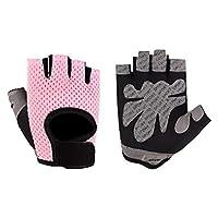 Anti-skid Half Finger Gym Gloves Sports Body Building Training Wrist Gloves Women Dumbbell Fitness Exercise Weightlifting